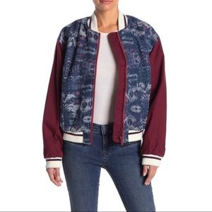 Free People Varsity of Dreams Bomber Jacket XS